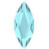 Swarovski 2201 Hot Fix Marquise Jewel Flatback Rhinestones 8x3.5mm Aqua (144 Pieces)