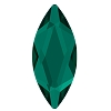 Swarovski 2201 Hot Fix Marquise Jewel Flatback Rhinestones 8x3.5mm Emerald (144 Pieces)
