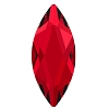 Swarovski 2201 Hot Fix Marquise Jewel Flatback Rhinestones 14x6mm Scarlet (72 Pieces)