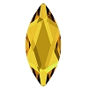 Swarovski 2201 Hot Fix Marquise Jewel Flatback Rhinestones 14x6mm Sunflower (72 Pieces)