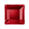 Swarovski 2400 Hot Fix Square Flatback Rhinestones 3mm Scarlet (1,440 Pieces)