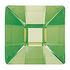 Swarovski 2483 Hot Fix Classic Square Flatback Rhinestones 10mm Peridot (144 Pieces)