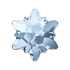 Swarovski 2753 Hot Fix Edelweiss Flatback Rhinestones 10mm Crystal Blue Shade (72 Pieces)