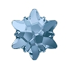 Swarovski 2753 Hot Fix Edelweiss Flatback Rhinestones 14mm Denim Blue (36 Pieces)