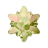 Swarovski 2753 Edelweiss Flatback Rhinestones 10mm Crystal Luminous Green