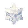 Swarovski 2753 Hot Fix Edelweiss Flatback Rhinestones 10mm White Opal (72 Pieces)