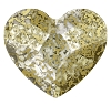 Swarovski 2808 Hot Fix Heart Flatback Rhinestones 6mm Crystal Gold Patina (288 Pieces)