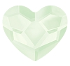 Swarovski 2808 Heart Flatback Rhinestones 10mm Crystal Powder Green