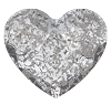 Swarovski 2808 Hot Fix Heart Flatback Rhinestones 6mm Crystal Silver Patina (288 Pieces)