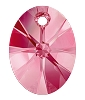 Swarovski 6028 Xilion Oval Pendant 12mm Rose