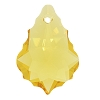 Swarovski 6090 Baroque Pendant 16x11mm Light Topaz