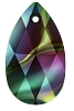 Swarovski 6106 Pear Pendant 22mm Crystal Rainbow Dark