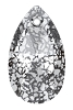 Swarovski 6106 Pear Pendant 16mm Crystal Black Patina