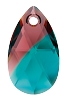 Swarovski 6106 Pear Pendant 22mm Burgundy Blue Zircon Blend