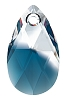 Swarovski 6106 Pear Pendant 16mm Crystal Montana Blend