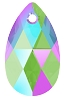 Swarovski 6106 Pear Pendant 16mm Erinite Shimmer