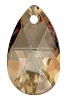 Swarovski 6106 Pear Pendant 16mm Crystal Golden Shadow