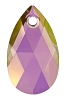 Swarovski 6106 Pear Pendant 16mm Crystal Lilac Shadow