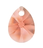 Swarovski 6128 Xilion Mini Pear Pendant 12mm Rose Peach