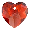 Swarovski 6215 Fancy Heart Pendant 18mm Crystal Red Magma