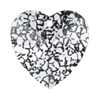 Swarovski 6228 Xilion Heart Pendant 10.3x10mm Crystal Black Patina