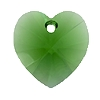 Swarovski 6228 Xilion Heart Pendant 18x17.5mm Dark Moss Green