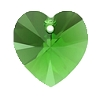 Swarovski 6228 Xilion Heart Pendant 10.3x10mm Fern Green