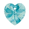 Swarovski 6228 Xilion Heart Pendant 10.3x10mm Light Turquoise