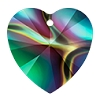 Swarovski 6228 Xilion Heart Pendant 10.3x10mm Crystal Rainbow Dark