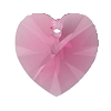 Swarovski 6228 Xilion Heart Pendant 18x17.5mm Rose