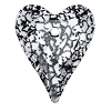 Swarovski 6240 Wild Heart Pendant 17mm Crystal Black Patina