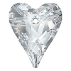 Swarovski 6240 Wild Heart Pendant 17mm Crystal Comet Argent Light (Protective Layer)