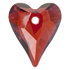 Swarovski 6240 Wild Heart Pendant 12mm Crystal Red Magma