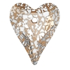 Swarovski 6240 Wild Heart Pendant 17mm Crystal Rose Patina