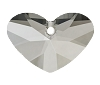 Swarovski 6260 Crazy 4 U Heart Pendant 17mm Crystal Satin