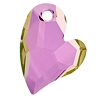 Swarovski 6261 Devoted 2 U Heart Pendant 36mm Crystal Lilac Shadow
