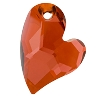 Swarovski 6261 Devoted 2 U Heart Pendant 17mm Crystal Red Magma