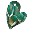 Swarovski 6261 Devoted 2 U Heart Pendant 17mm Crystal Vitrail Medium (Protective Layer)