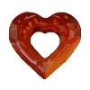 Swarovski 6262 Miss U Heart Pendant 17mm Crystal Red Magma