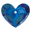 Swarovski 6263 Forever 1 Heart Pendant 36mm Crystal Bermuda Blue (Protective Layer)