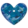 Swarovski 6264 Truly In Love Heart 28mm Crystal Bermuda Blue (Protective Layer)