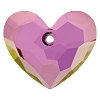 Swarovski 6264 Truly In Love Heart 18mm Crystal Lilac Shadow