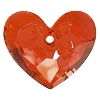 Swarovski 6264 Truly In Love Heart 18mm Crystal Red Magma