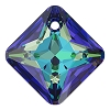 Swarovski 6431 Princess Cut Pendant 11.5mm Crystal Bermuda Blue (Protective Layer)