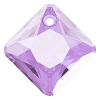 Swarovski 6431 Princess Cut Pendant 11.5mm Light Amethyst