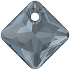 Swarovski 6431 Princess Cut Pendant 9mm Montana