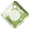 Swarovski 6431 Princess Cut Pendant 11.5mm Peridot