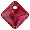 Swarovski 6431 Princess Cut Pendant 11.5mm Scarlet