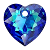 Swarovski 6432 Heart Cut Pendant 10.5mm Crystal Bermuda Blue (Protective Layer)