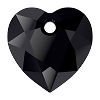 Swarovski 6432 Heart Cut Pendant 8mm Jet